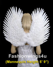 Fashionwings White Costume Feather Angel Wings Duo Use Pointing up or Down