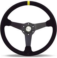 JDM SUEDE BLACK DRIFT STYLE Deep Dish Steering Wheel ADR Approved