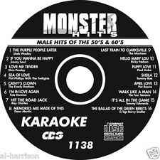 KARAOKE MONSTER HITS CD+G MALE HITS OF THE 50's & 60's  #1138