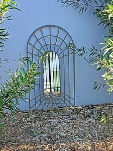 large 1 m high PROVINCIAL rust  garden perspective arch FRENCH 3D MIRROR NEW