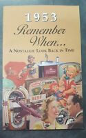 1953 Remember When Book A Nostalgic Look Back in Time National World News Ads