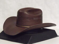 Stetson Men's Striker 10x Straw Vented Cowboy Hat Brown 7 1/4