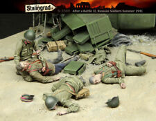 1/35 scale resin model kit After the battle WW2 Russian soldiers 1941 Casualties