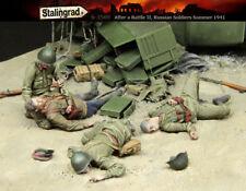 1/35 Scale resin model kit après la bataille WW2 soldats russes 1941 VICTIMES