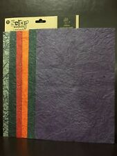 NEW - LEATHER LOOK - HANDMADE PAPERS - PACK - 6 DIFFERENT COLOURS