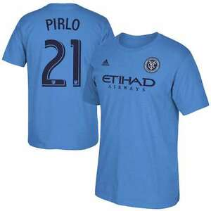 adidas Men's MLS NYC Football Club Pirlo/Mix/Lampard/David Villa Soccer T-Shirt