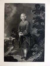 Fry / Gainsborough - Portrait de Ralph Schomberg  ENGRAVING Gravure c1835