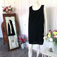 Suzannegrae Black lined shift dress Size 14 Womens