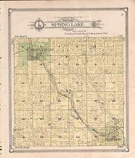 1908 Pierce County plat map Wisconsin Genealogy history Atlas Land P131