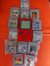 Nintendo Game Boy Pocket Rot mit 13+1 Spiele Handheld-Spielekonsole siehe Beschr