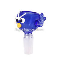 14mm/18mm Male Blue Bird Design Glass Slide Bowl USA Fast Free Shipping