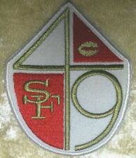 "San Francisco 49ers Shield 3.5"" Iron on Embroidered Patch Ship"