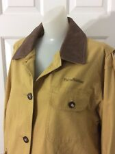 LL Bean Women's Medium Barn Chore Duster Coat USA MADE L Hunting Jacket