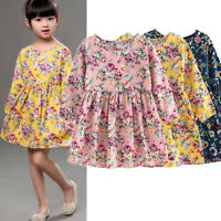 Toddler Baby Girls Dress Long Sleeve Princess Party Pageant Dresses Clothes Lot