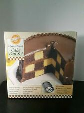 Wilton Round Checkerboard Cake Pan Set, Surprise Your Guests with a Checkerbo...