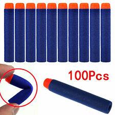 100 Pcs Nachfüll Refill Darts Pfeile Elite Clip Darts Blau NERF N-Strike Blaster