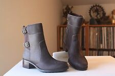 Andre Assous Laura Brown Distressed Leather Waterproof Boots Sz. 38.5 Appx 7-7.5