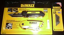 DEWALT AUTO LOAD FOLDING KNIFE, POCKET KNIFE & 5 BLADES >>SUPER FAST SHIPPI