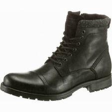 284911ae91e0c3 JACK   JONES Marly HERREN Boots SCHNÜRSTIEFEL ECHT LEDER Stiefel Schwarz  Gr. 42