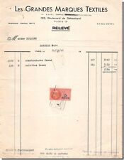 Invoice all Large Brands Textiles in Conches 1947