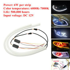 2x12V Dynamic Flexible 60cm LED Headlight Strip Lights DRL Turn Signal Lamp Part