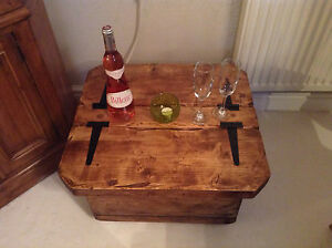Mini Morbihan a rustic /table/chest/ side table