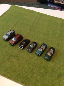 6 Cararama Cars Approx OO Gauge. See Description For Details