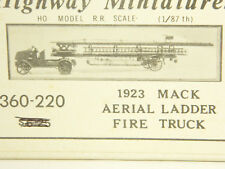 HO OOP Kit Jordan Highway Miniatures #220 1923 MACK AERIAL LADDER FIRE TRUCK New