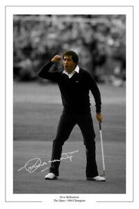 SEVE BALLESTEROS GOLF SIGNED AUTOGRAPH PHOTO THE OPEN 1984 WINNER