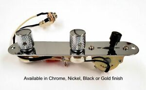 Tele Loaded Control Plate with Premium 3-way or 4-way harness and Knobs