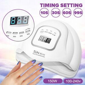 Lampe à ongles 150W UV LED SUN Light Professional Nail Dryer Gel Machine poly D1
