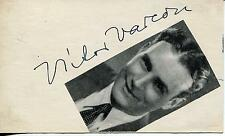 VICTOR VARCONI SILENT MOVIE HUNGARIAN ACTOR IN HITLER GANG SIGNED CARD AUTOGRAPH