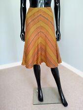 Lauren Ralph Lauren designer linen A line linen striped skirt BNWT sz. 8US/12UK