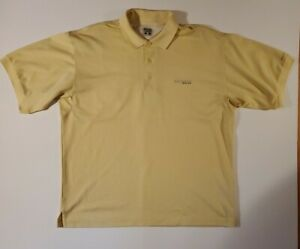 Columbia Sportswear Co. PFG Omni Shade Polo Golf Shirt Large Men's Yellow