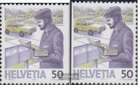Schweiz 1343Dl-1343Dr gestempelt 1987 Postbeförderung