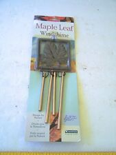 Maple Leaf Windchime Hayes Designed by Nature Brass new in package