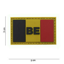 Belgien klein BE Airsoft Paintball Patch mit Klett Softair Aufnäher