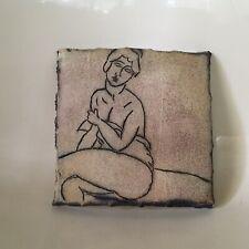Mitch Yung Ceramic Art Tile Nude Woman