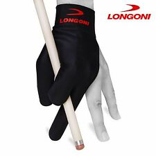 LONGONI Billiard POOL CUE GLOVE Black for Left hand + FREE SHIPPING!