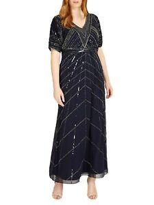 NEW Ladies Womens Studio 8 Phase Eight BETHANY MAXI DRESS Size 12,14,16,18 NAVY