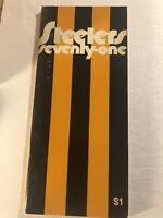 1971 PITTSBURGH STEELERS Yearbook Media Guide TERRY BRADSHAW Joe GREENE Blount