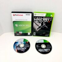 Call Of Duty Black Ops 1 2 Xbox 360 Video Games Lot Of 2
