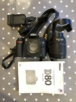 Nikon D80 10.2 megapixel DSLR camera with 18-135mm lens outfit kit