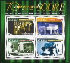 Uruguay 1999 SODRE 70th/Radio/Television/Broadcasting/Camera/TV 4v m/s (n44913)