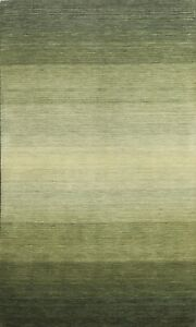 Striped Hand-knotted Gabbeh Oriental Area Rug Modern Wool Home Decor Carpet 4x6