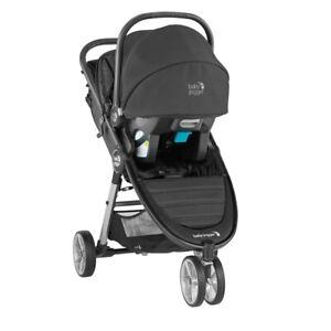 Baby Jogger City Mini 2 Travel System Jet w/ Stroller & City Go Car Seat