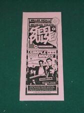 1984 STEEL PULSE ORIGINAL CONCERT HANDBILL FLYER ANN ARBOR MICHIGAN SIMPLE MINDS