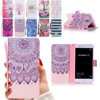 Wallet PU Leather Case Flip Stand Mobile Phone Case Cover for Huawei P8 P9 P10