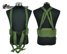 Airsoft Molle Tactical Waist Padded Belt with Suspender Olive Drab A