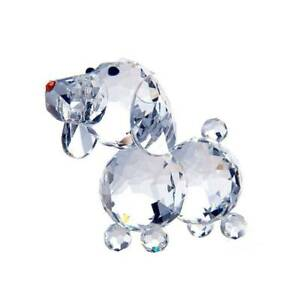 Artificial Crystal Glass Dog Figurines Paperweight Crafts Collection Decorations